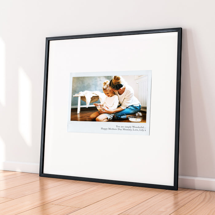 Personalised Retro Single Image Mothers Day Print