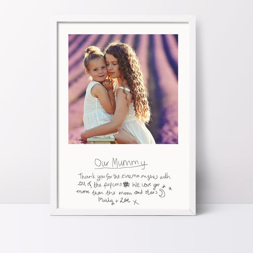 Your Childs Handwritten Photo Print For Mum