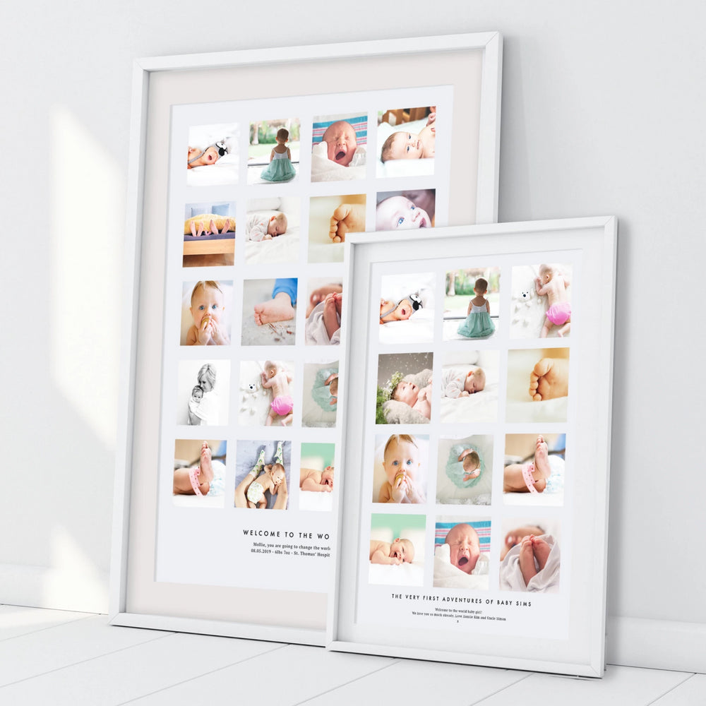 Personalised New Baby Photo Collage
