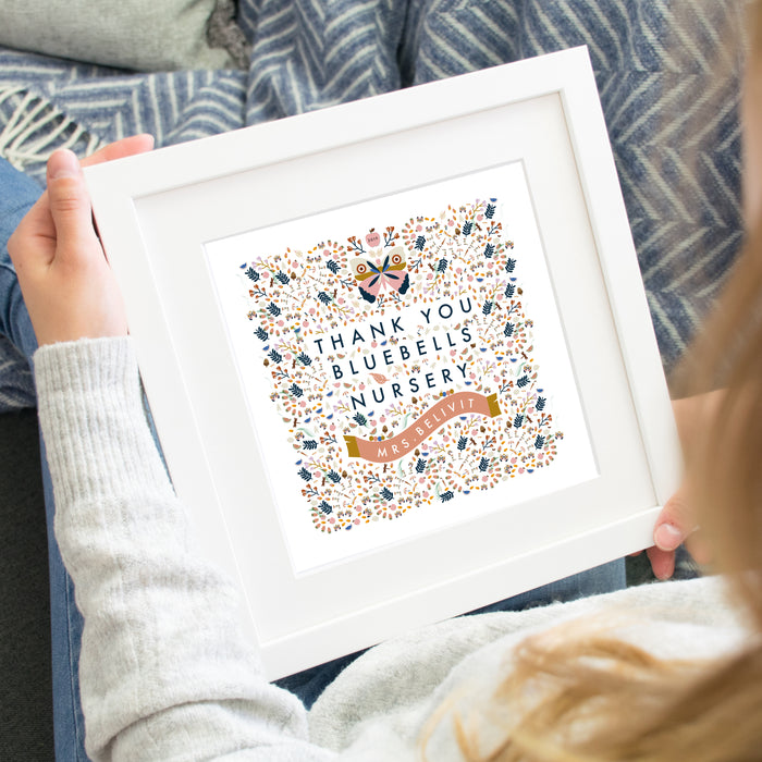 Personalised 'Thank You Nursery / Pre-School' Square Print