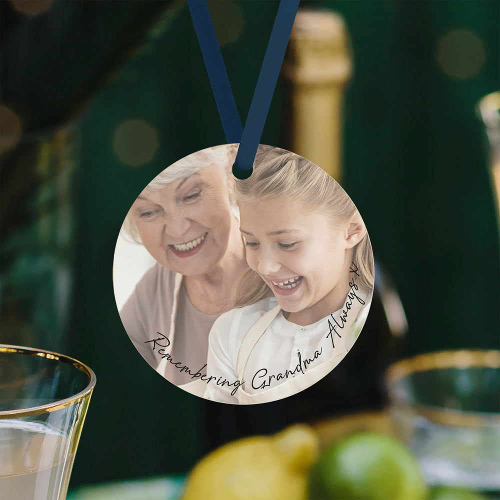 Remembering Grandma Keepsake Personalsied Photo Bauble