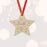 'Santa Stop Here' Engraved Wooden Star Christmas Tree Decoration