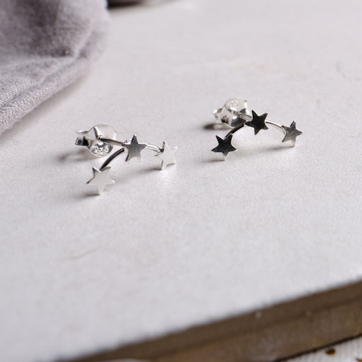 Sterling Silver Trio Of Lucky Stars