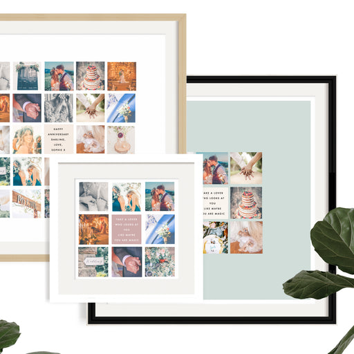 Wedding Memories Square Montage Framed Print