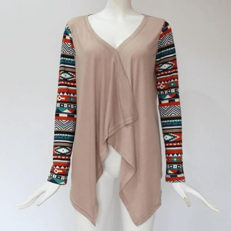 Mayan Princess Top (Khaki) - Boho 70