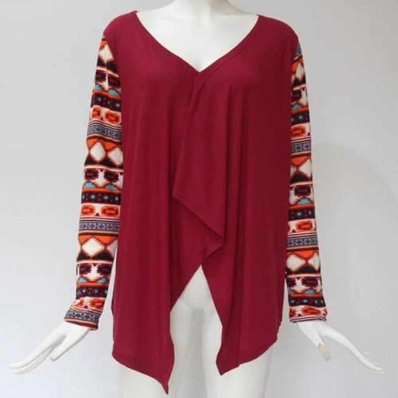 Mayan Princess Top (Red) - Boho 70