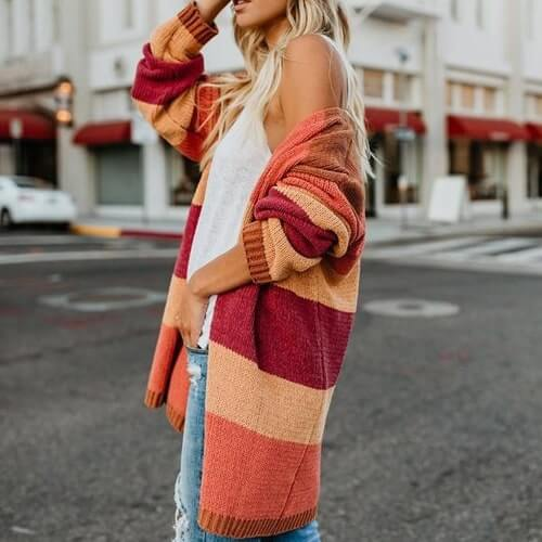 Colorful Striped Feminino - Boho 70