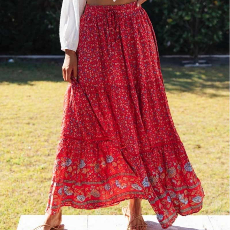 Red Flower Skirt