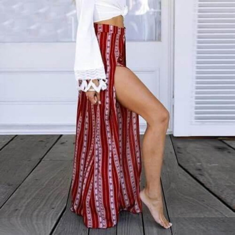 Seneca High Slit Trouser - Boho 70