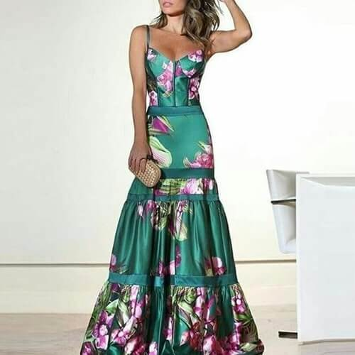 Yayoi Empire Gown - Boho 70