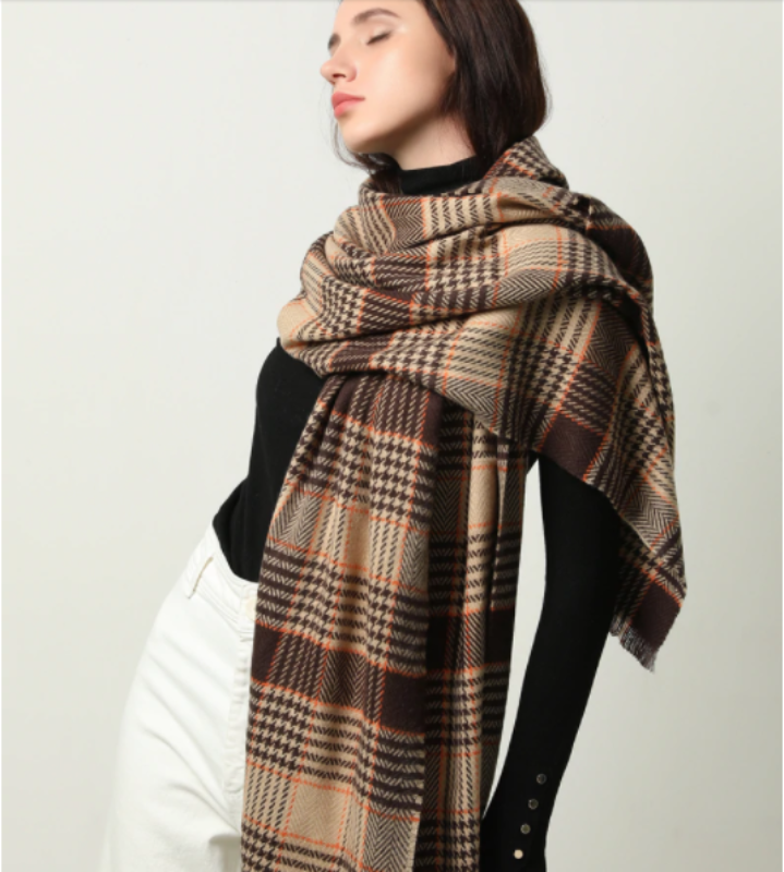 Maricar Plaid Scarf