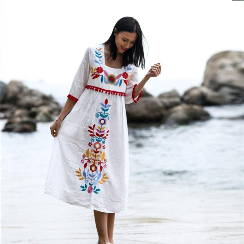 Liliana Floral Embroidery Dress
