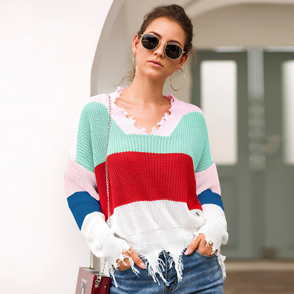Venice Colorful Sweater - Boho 70