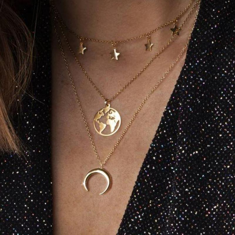Stars & Moon Necklace