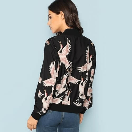Flamingo Dreams Bomber Jacket - Boho 70