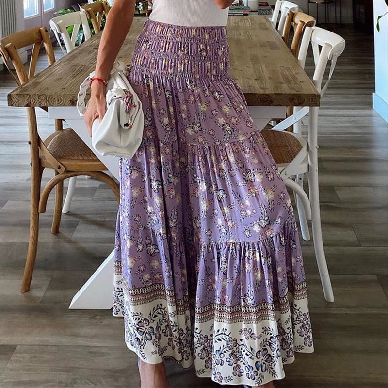 Kristel Purple Skirt