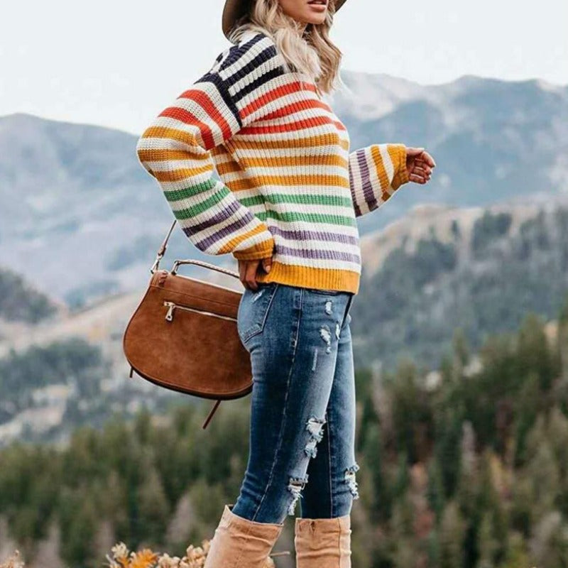 Adalena Striped Sweater