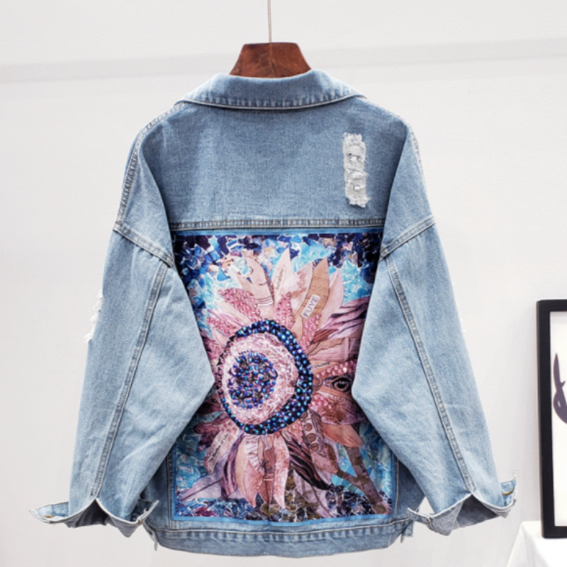 Hattie Floral Denim Jacket