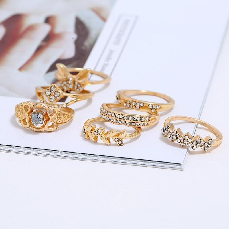 Vaine Butterfly Ring Set