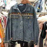 Monroe Fringed Denim Jacket
