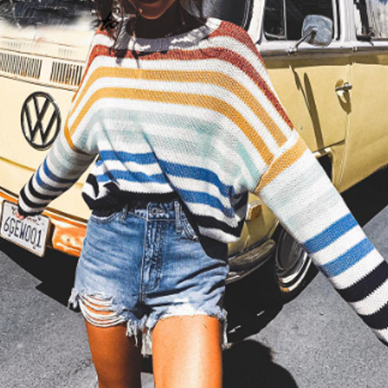 Allie Striped Sweater - Boho 70