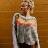 Rainbow Stripes Sweater - Boho 70