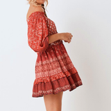 Lea Off-shoulder Dress - Boho 70