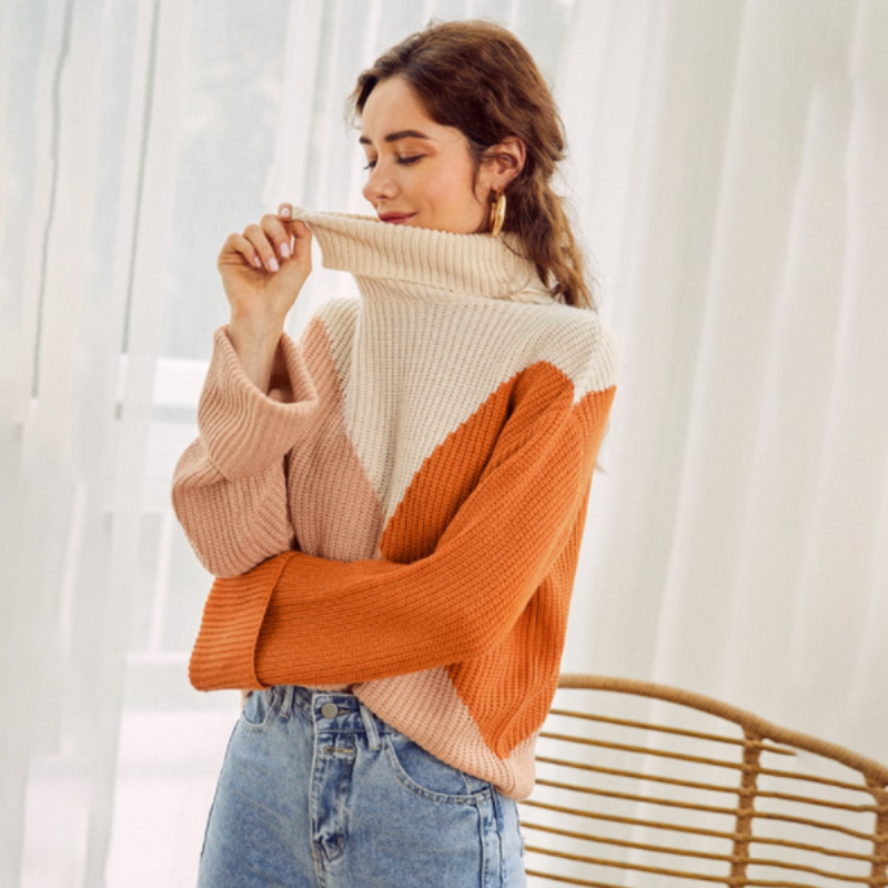 Anastasia Color Block Sweater