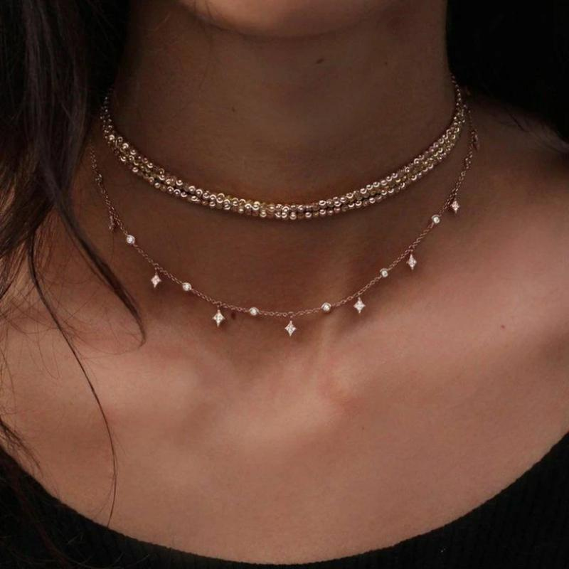 Multi-Layer Crystal Necklace