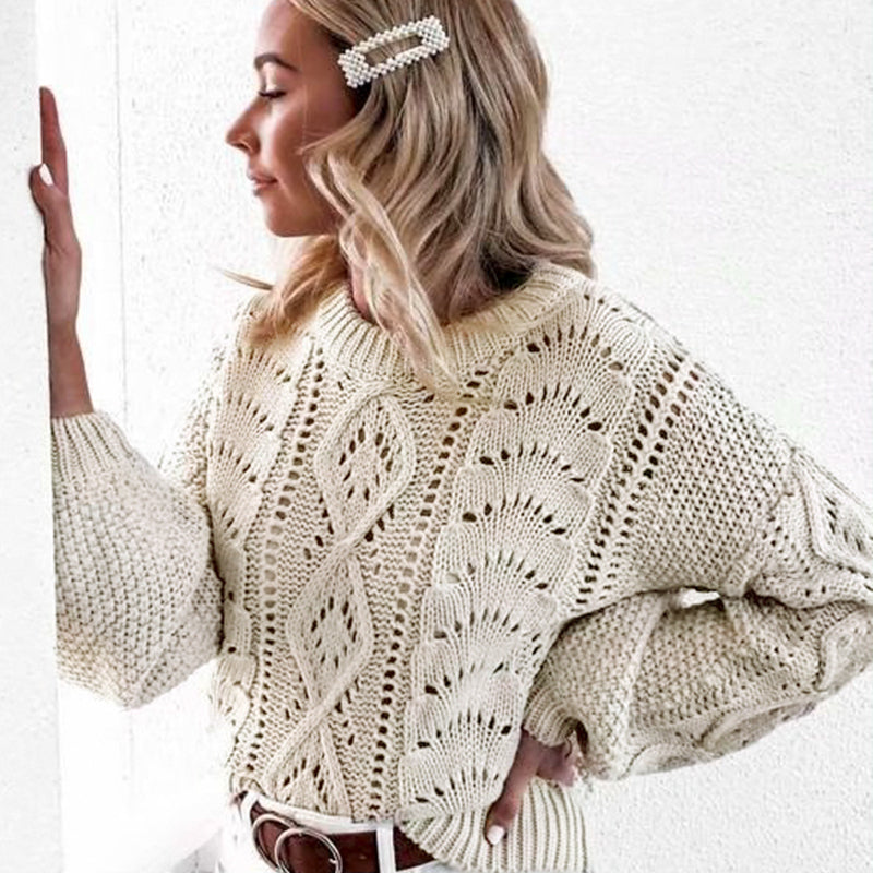 Alexa Hollow Out Pullover - Boho 70