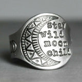 Stay Wild Moon Child Ring by Boho Seventy Bohemian Jewelry