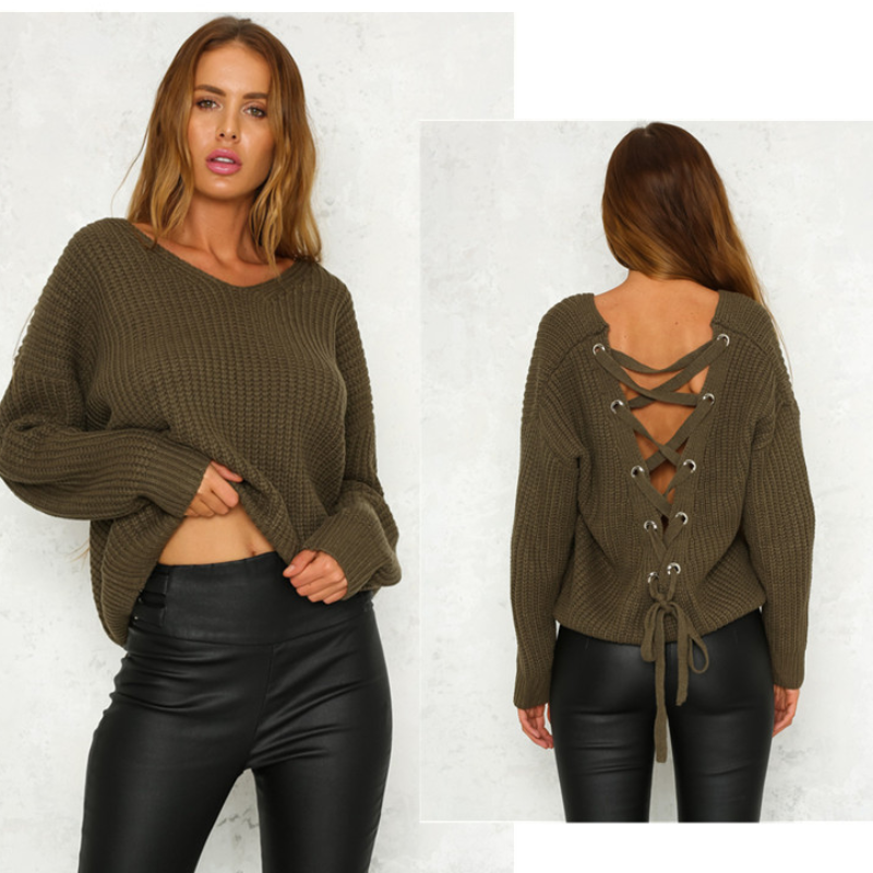 Addison Cross Back Pullover - Boho 70