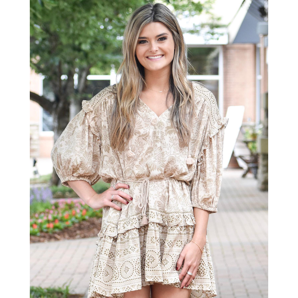 Ella Ruffled Dress - Boho 70