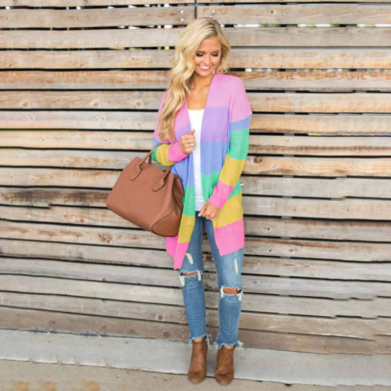 Kendra Colorful Cardigan - Boho 70