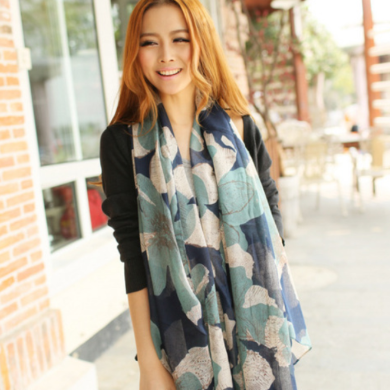 Addison Flower Scarf - Boho 70