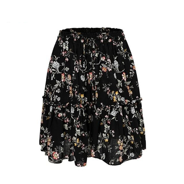 Wavy Floral Skirt