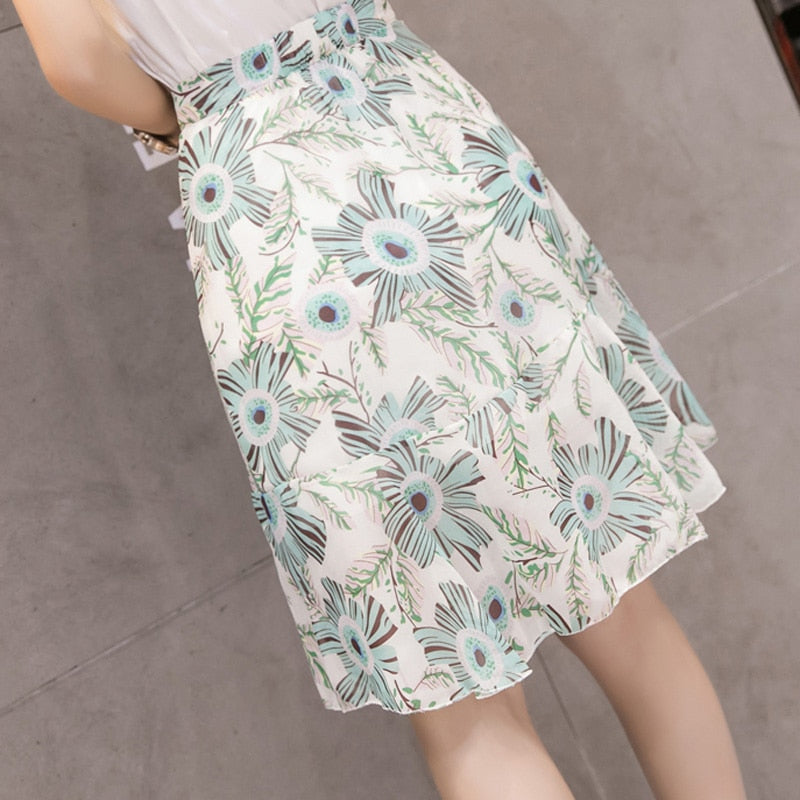 Floral Fishtail Skirt - Boho 70