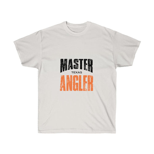 Texas Master Angler Unisex Ultra Cotton Tee Orange Logo