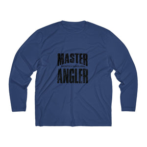 North Carolina Master Angler Men's Long Sleeve Moisture Absorbing Tee - Blk Sqr