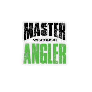 Wisconsin Master Angler Sticker - GREEN