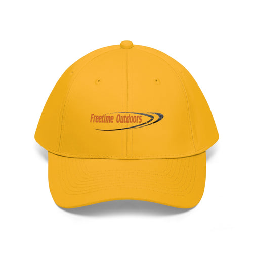 Freetime Outdoors Unisex Twill Hat - Orange Logo