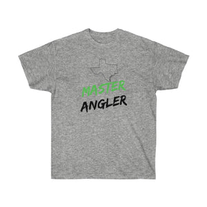 Texas Master Angler Unisex Ultra Cotton Tee Green Logo