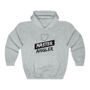 Ohio Master Angler Unisex Heavy Blend™ Hooded Sweatshirt - Slash Black