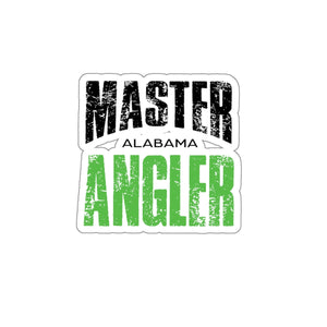 Alabama Master Angler Sticker - GREEN