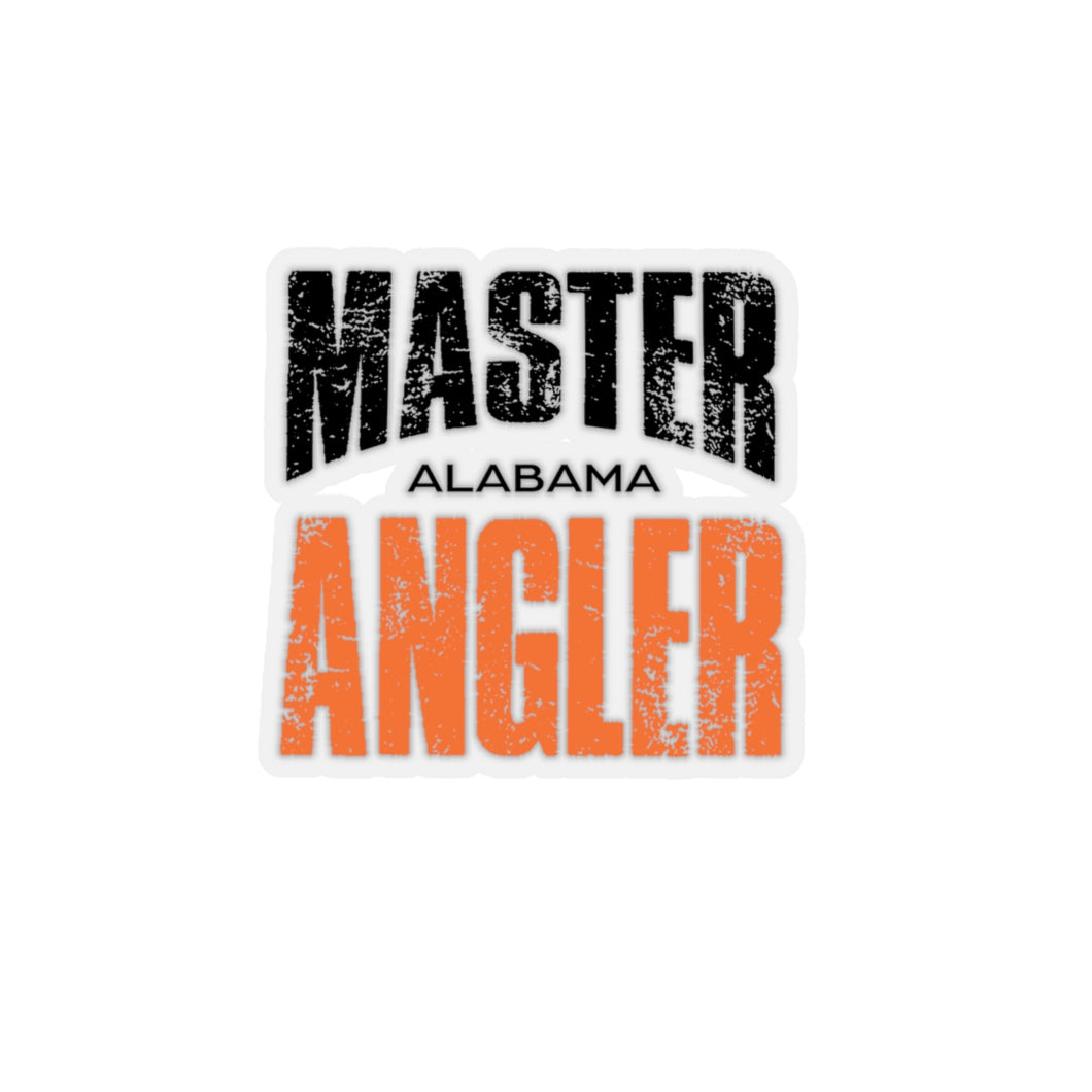 Alabama Master Angler Sticker - ORANGE