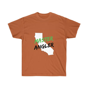 California Master Angler Unisex Ultra Cotton Tee Green Logo
