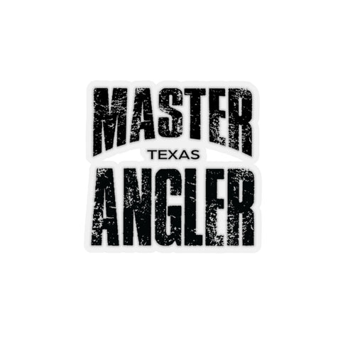 Texas Master Angler Sticker - BLACK
