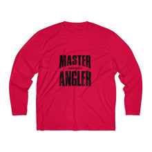Load image into Gallery viewer, Georgia Master Angler Men's Long Sleeve Moisture Absorbing Tee - Blk Sqr