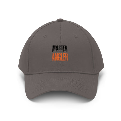 Wisconsin Master Angler Unisex Twill Hat - Orange Logo