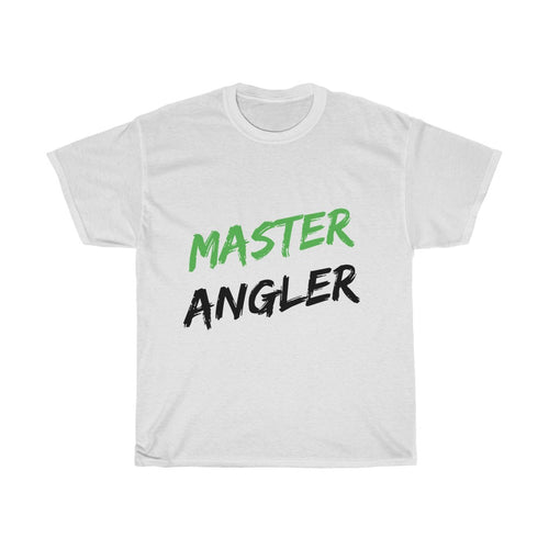 Master Angler Green & Black Unisex Heavy Cotton Tee
